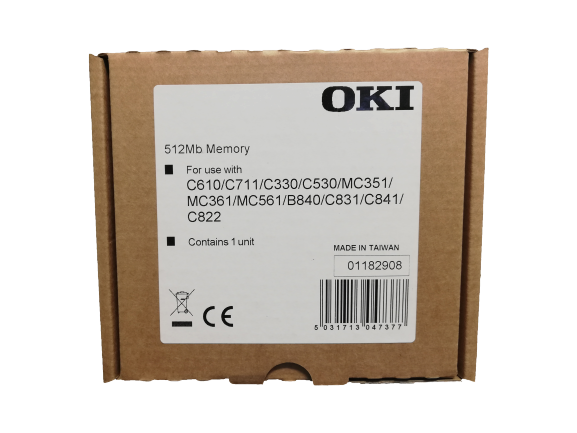 OKI - OKI 01182908 BELLEK ÜNİTESİ RAM-512MB-MC562-C600-C700-B721-B731-B840-ES5462-MFP-ES6400 ES7131-ES7400-ES8140-Pro6410 NeonColor-Pro7411WT- Pro8432WT C800- SERİSİ RAM-512MB