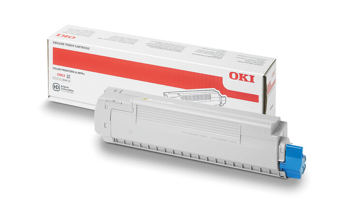 OKI - OKI 43487721 SARI TONER C8600-C8800 - 6,000 SAYFA
