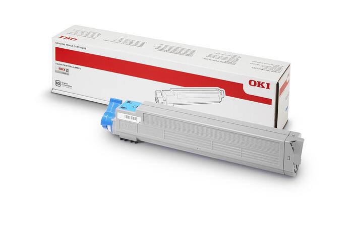 OKI - OKI 43837135 MAVi TONER C9655 - CYAN TONER - 22,000 SAYFA