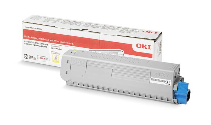 OKI - OKI 46471105 SARI TONER C823-C833-C843 - YELLOW TONER - 7,000 SAYFA