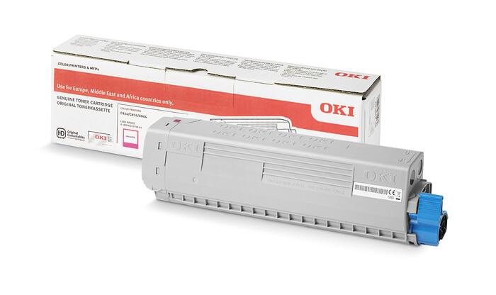 OKI - OKI 47095706 KIRMIZI TONER C824-C834-C844 - MAGENTA TONER - 5,000 SAYFA