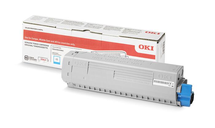 OKI - OKI 47095707-47095703 MAVİ TONER C824-C834-C844 - CYAN TONER - 5,000 SAYFA